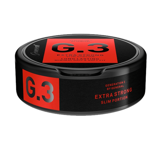 G.3 by General - Extra Strong Slim Portionssnus