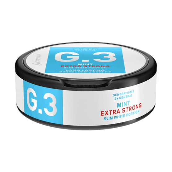 General G3 Slim White Mint Extra Strong Portionssnus