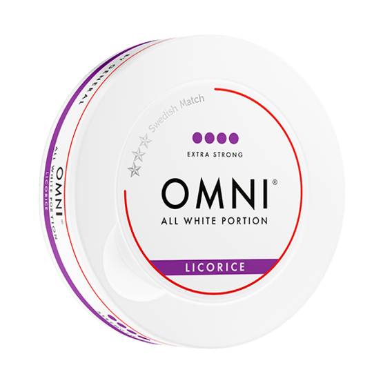 Omni Licorice Slim Dry Extra Strong White Portionssnus