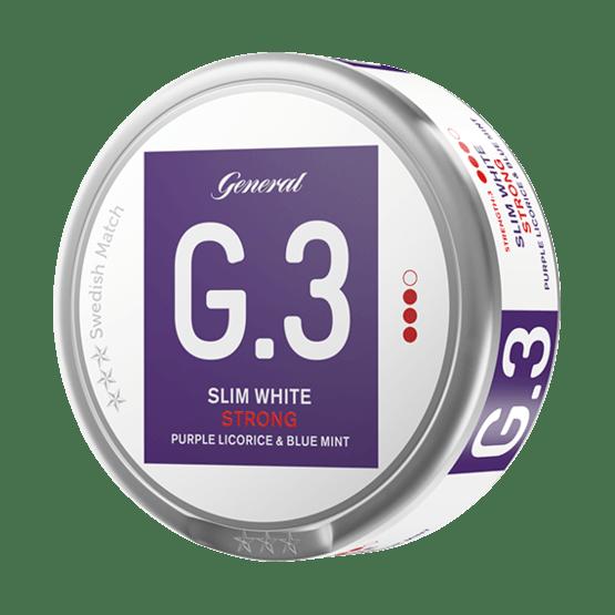 General G.3 Licorice Mint Slim White Portionssnus