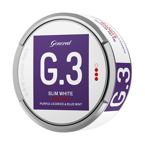 General G.3 Licorice Mint Slim White Portionssnus