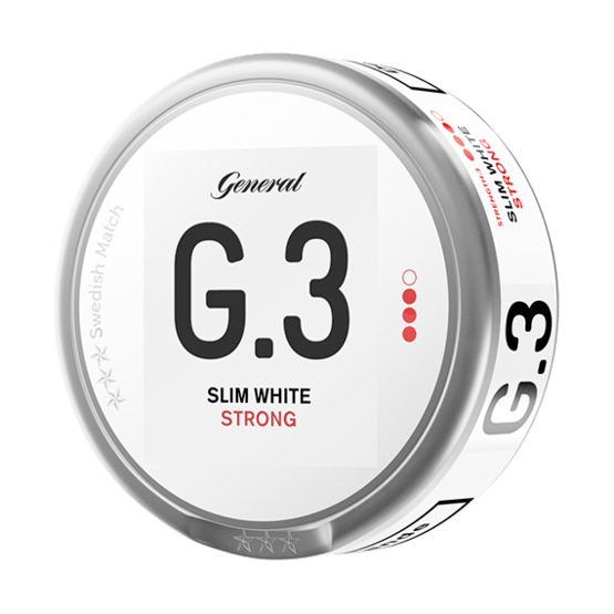 General G.3 White Slim Strong Portionssnus