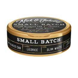 Nick and Johnny Small Batch Licorice Slim White Portionssnus
