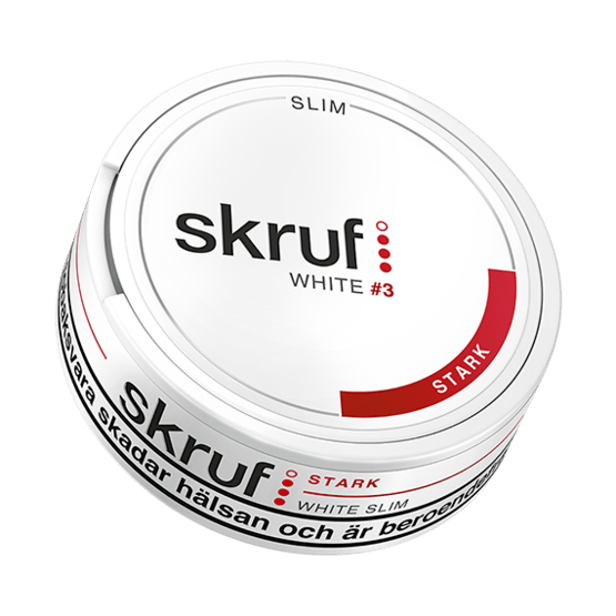 Skruf Slim Stark White Portionssnus