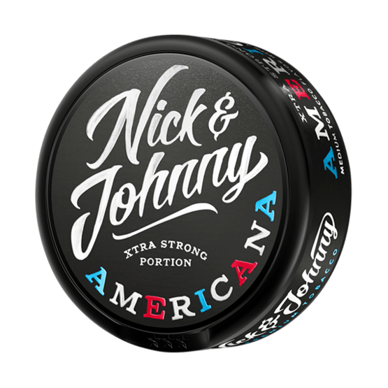 Nick and Johnny Americana Xtra Strong Portionssnus (tidigare Capt. Yankee)