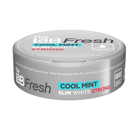 The Lab Fresh Slim White Cool Mint Strong Portionssnus