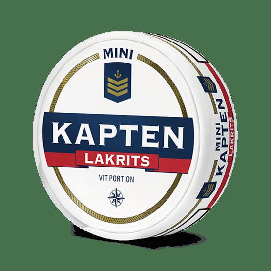 Kapten Vit Lakrits Minisnus