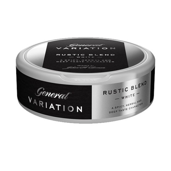 General Variation Rustic Blend White Portionssnus