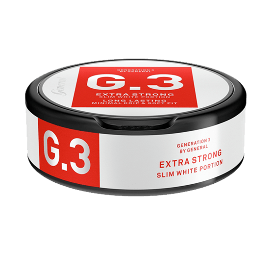 G.3 by General - Extra Strong Slim White Portionssnus