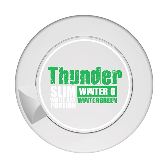 Thunder Wintergreen Slim White Dry