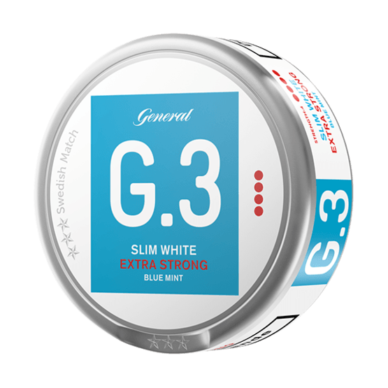 General G.3 Slim White Mint Extra Strong Portionssnus