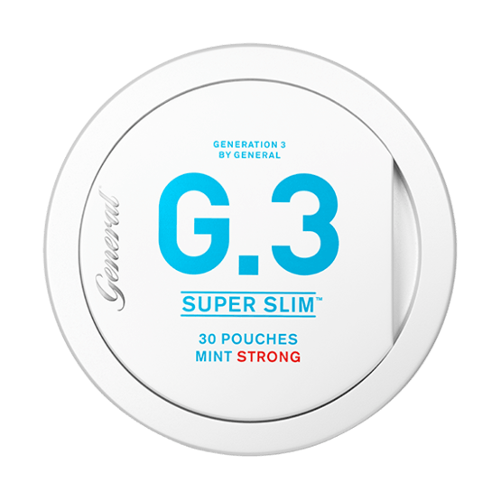 General G3 Superslim Mint Strong Portionssnus