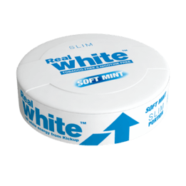 KickUp Real White Soft Mint Slim Nikotinfritt Snus