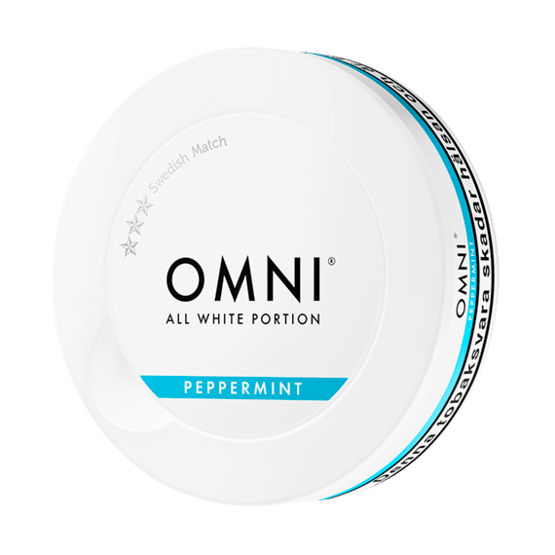 Omni Peppermint Slim Dry White Portionssnus