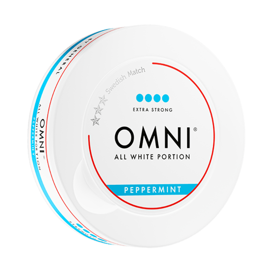 Omni Peppermint Slim Dry Extra Strong White Portionssnus