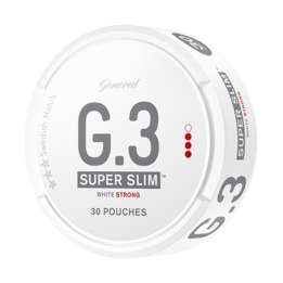 General G.3 Superslim Strong White Portionssnus