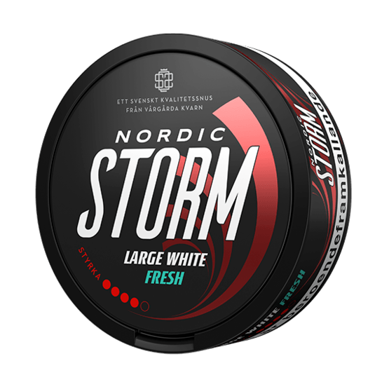 Nordic Storm Large White Fresh Portionssnus