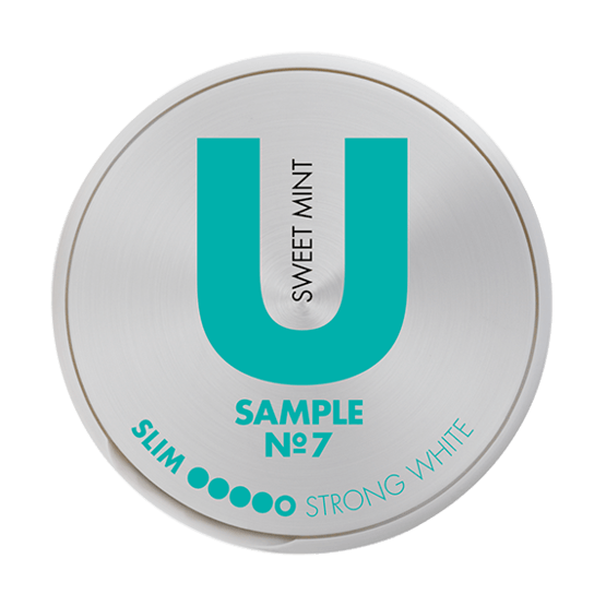 U Sample Sweet Mint No.7 Portionssnus