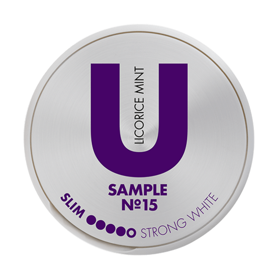 U Sample Licorice Mint No.15 Portionssnus