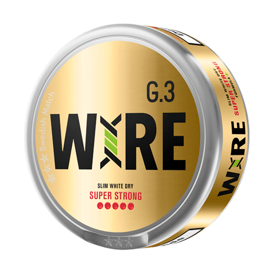 General G.3 Wire Slim White Dry Superstrong Portionssnus