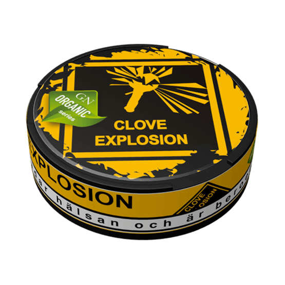 Odens Organic Clove Explosion Portionssnus