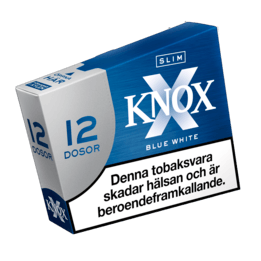 Knox Slim Blue White Portionssnus 12-pack