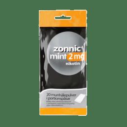 Zonnic Mint Munhålepulver i portionspåse 2 mg 20 st