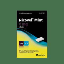 Nicovel Mint Nikotintuggummi 4 mg 24 st