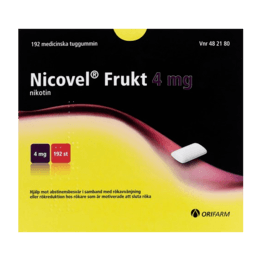 Nicovel Frukt Nikotintuggummi 4 mg 192 st