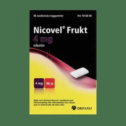 Nicovel Frukt Nikotintuggummi 4 mg 96 st