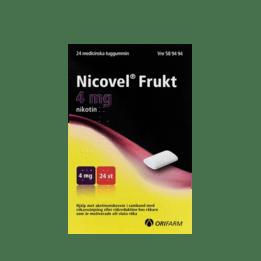 Nicovel Frukt Nikotintuggummi 4 mg 24 st