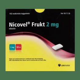 Nicovel Frukt Nikotintuggummi 2 mg 192 st