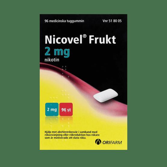 Nicovel Frukt Nikotintuggummi 2 mg 96 st