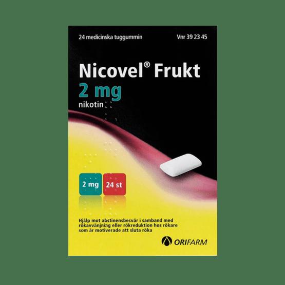 Nicovel Frukt Nikotintuggummi 2 mg 24 st
