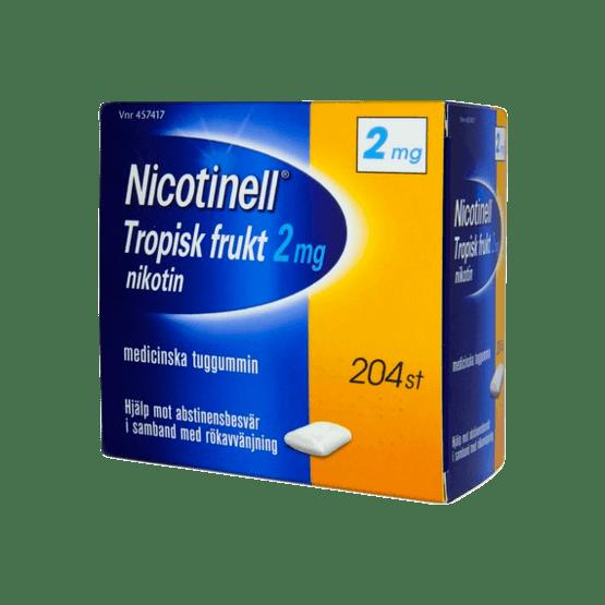 Nicotinell Tropical Nikotintuggummi 2 mg 204 st