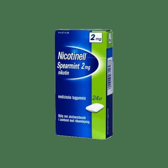 Nicotinell Spearmint Nikotintuggummi 2 mg 24 st