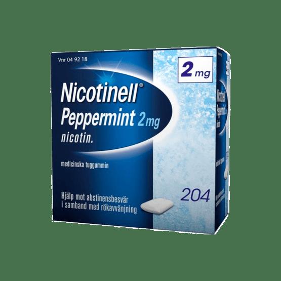Nicotinell Peppermint Nikotintuggummi 2 mg 204 st