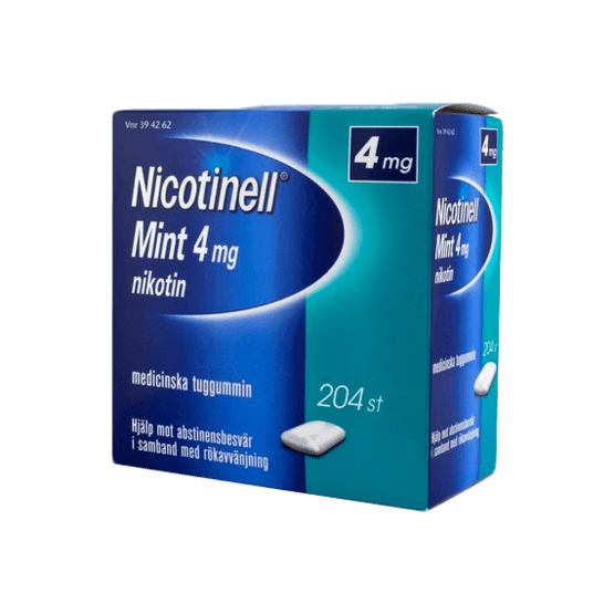 Nicotinell Mint Nikotintuggummi 4 mg 204 st