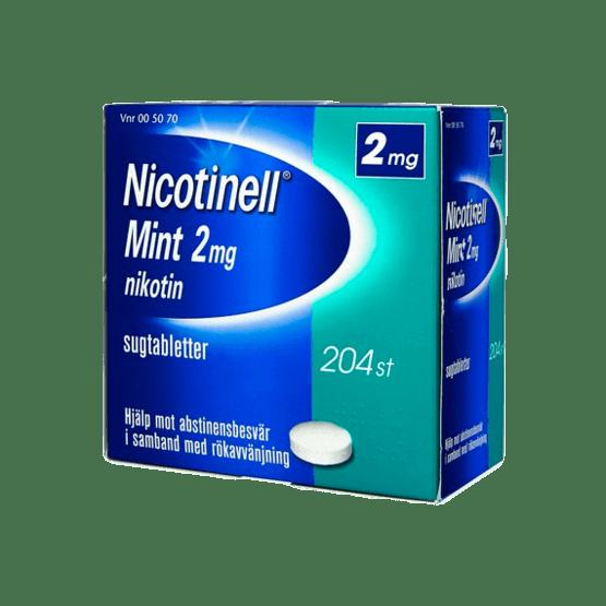 Nicotinell Mint Nikotintablett 2 mg 204 st