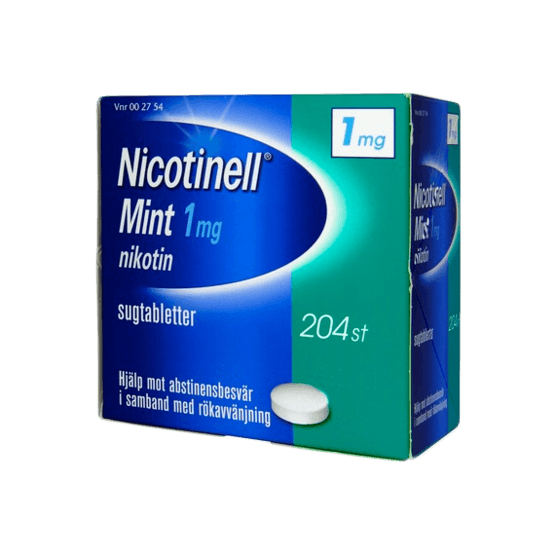 Nicotinell Mint Nikotintablett 1 mg 204 st