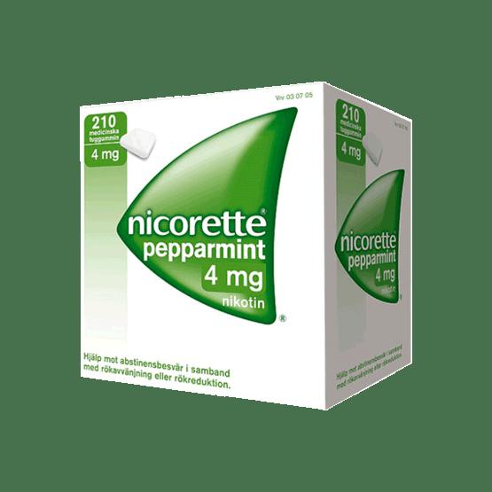 Nicorette Peppermint Nikotintuggummi 4 mg 210 st