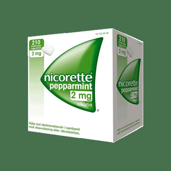 Nicorette Peppermint Nikotintuggummi 2 mg 210 st