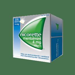 Nicorette Mentholmint Nikotintuggummi 4 mg 210 st