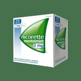 Nicorette Mentholmint Nikotintuggummi 2 mg 210 st