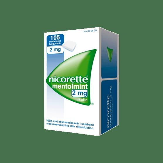 Nicorette Mentholmint Nikotintuggummi 2 mg 105 st