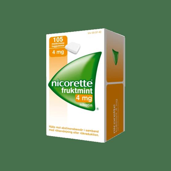 Nicorette Fruktmint Nikotintuggummi 4 mg 105 st