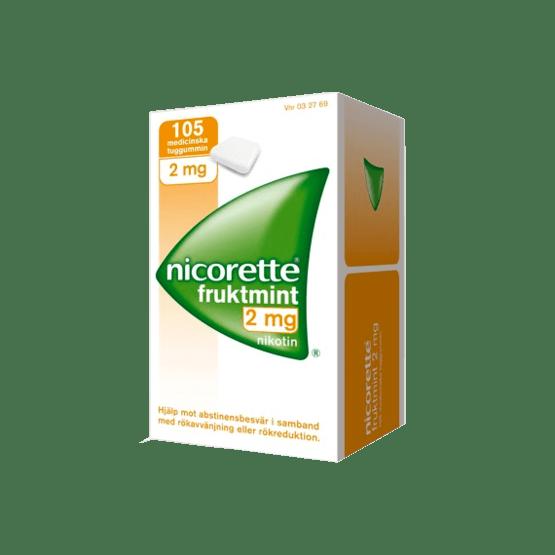 Nicorette Fruktmint Nikotintuggummi 2 mg 105 st