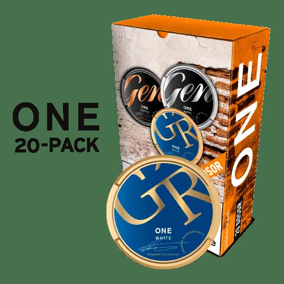 Göteborgs Rapé One White Portion 20-pack