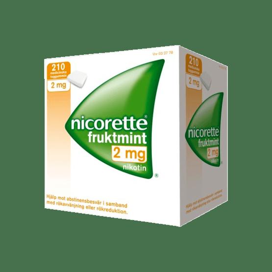 Nicorette Fruktmint Nikotintuggummi 2 mg 210 st