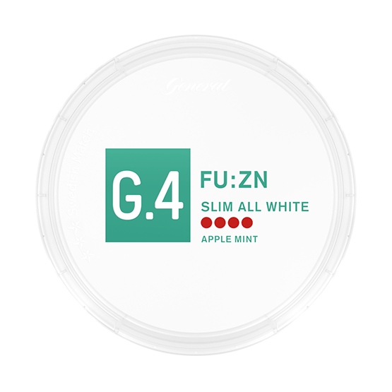 General G.4 FU:ZN Slim All White Portionssnus